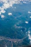 Le montagne da un aeroplano Fotografie Stock Libere da Diritti