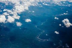 Le montagne da un aeroplano Immagini Stock Libere da Diritti