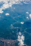 Le montagne da un aeroplano Immagine Stock Libera da Diritti