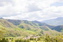 Le montagne del Apennines centrale Fotografie Stock