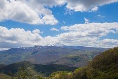 Le montagne del Apennines centrale Fotografia Stock Libera da Diritti