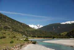 Le montagne del sud del Cile abbelliscono la vista con generale Carrera del lago Fotografie Stock Libere da Diritti