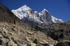 Le montagne dell'Himalaya, Gamukh Fotografia Stock Libera da Diritti