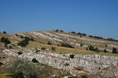 Le montagne della Crimea Fotografia Stock