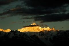 Le montagne della neve Immagine Stock Libera da Diritti