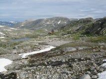 Le montagne della Norvegia Fotografie Stock Libere da Diritti