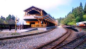 Le montagne della stazione ferroviaria Immagini Stock