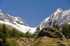 Le montagne della Svizzera Fotografia Stock