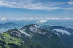 Le montagne delle alpi in Baviera, Germania Fotografia Stock Libera da Diritti