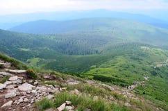 Le montagne di Carpathians Fotografie Stock Libere da Diritti