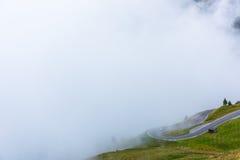 Le montagne di Grossglockner in tempo nebbioso Fotografia Stock Libera da Diritti