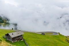 Le montagne di Grossglockner in tempo nebbioso Immagini Stock Libere da Diritti