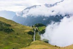 Le montagne di Grossglockner in tempo nebbioso Fotografia Stock