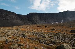 Le montagne di Khibiny Fotografie Stock Libere da Diritti