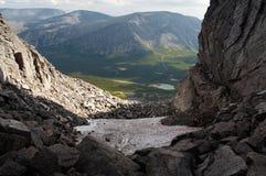 Le montagne di Khibiny Fotografia Stock