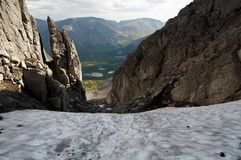 Le montagne di Khibiny Fotografia Stock Libera da Diritti