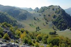 Le montagne di Mehedinti, Romania Fotografia Stock