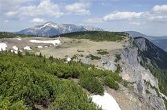 Le montagne di Rax Alp con Schneeberg Immagini Stock