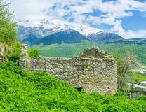 Le montagne di Svaneti superiore Fotografia Stock Libera da Diritti