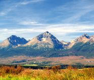 Le montagne di Tatra in estate Fotografia Stock Libera da Diritti