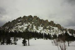 Le montagne di Ural Sosta nazionale Taganay La cresta Otkliknoi 1155 m. Fotografie Stock