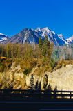 Le montagne e le valli Fotografie Stock