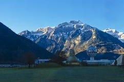 Le montagne e le valli Immagine Stock