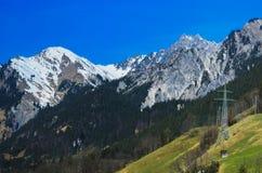 Le montagne e le valli Fotografie Stock Libere da Diritti