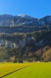 Le montagne e le valli Immagini Stock Libere da Diritti