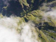 Le montagne nel Achada fanno Teixeira, Madera fotografia stock