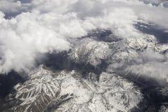 Le Montagne Rocciose Fotografia Stock