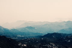 Le montagne scure in Tenerife Fotografie Stock Libere da Diritti