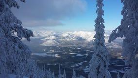 Le Montana pendant l'hiver image stock