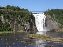 Le Montmorency tombe à Quebec City, Canada Images libres de droits