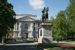 Le monument à Peter I, monument équestre en bronze de Peter image libre de droits