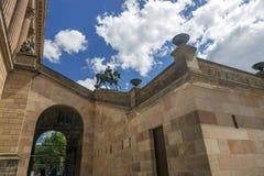 Le monument équestre au Roi prussien Friedrich Wilhelm IV devant le bâtiment de musée, a été installé en 1886 à Berlin photo stock