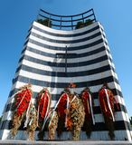 Le monument éternel de mémorial de flamme Images stock