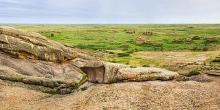 Le monument archéologique Terekty-Aulie Image libre de droits