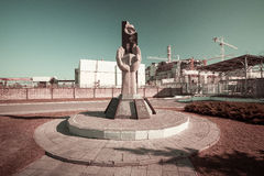Le monument aux liquidateurs de l'accident de Chernobyl Photo stock