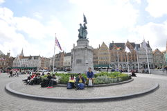 Le monument, Bruges Photographie stock libre de droits