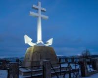 Le monument commémoratif français libre sur la rivière Clyde photos stock