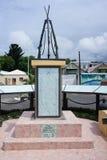 Le monument consacré à l'indépendance établie en capitale de Rodrigues est port Mathurin photo stock