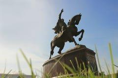 Le monument d'Amir Temur dans la ville de Tashkent, l'Ouzbékistan Photos stock