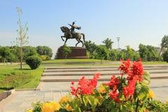 Le monument d'Amir Temur dans la ville de Tashkent, l'Ouzbékistan Image stock
