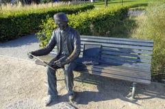 Le monument d'Antoni Suchanek en parc dans Orlowo, Gdynia, Pologne Photos stock