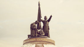 Le monument dans la ville de Tcheboksary Photos stock