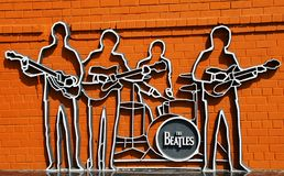 Le monument de Beatles dans Ekaterinburg Images libres de droits