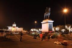 le monument de cavalier du Roi Rama 5 Image stock