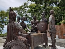 Le monument de contrat de sang, île de Bohol, Visayas, Philippines Image stock