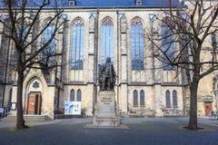 Le monument de Johann Sebastian Bach de Leipzig image stock